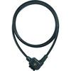 ABUS 875 Universal Zapięcie kablowe  + KF uchwyt czarny